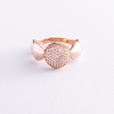 Золотое кольцо с фианитами к04959