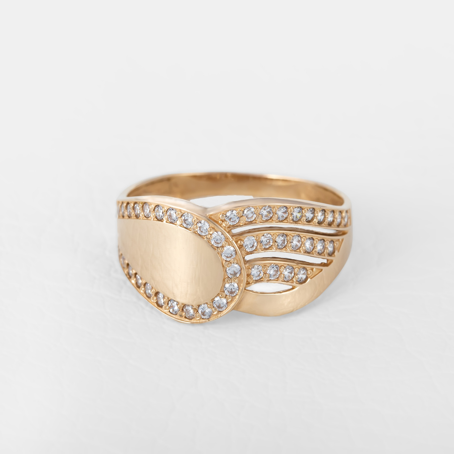 Кольцо женское золотое с фианитами К1734
