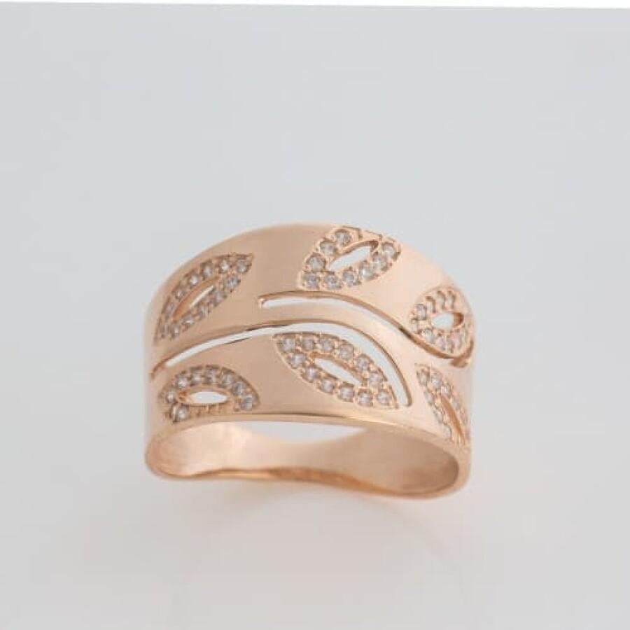 Кольцо золотое широкое К1762