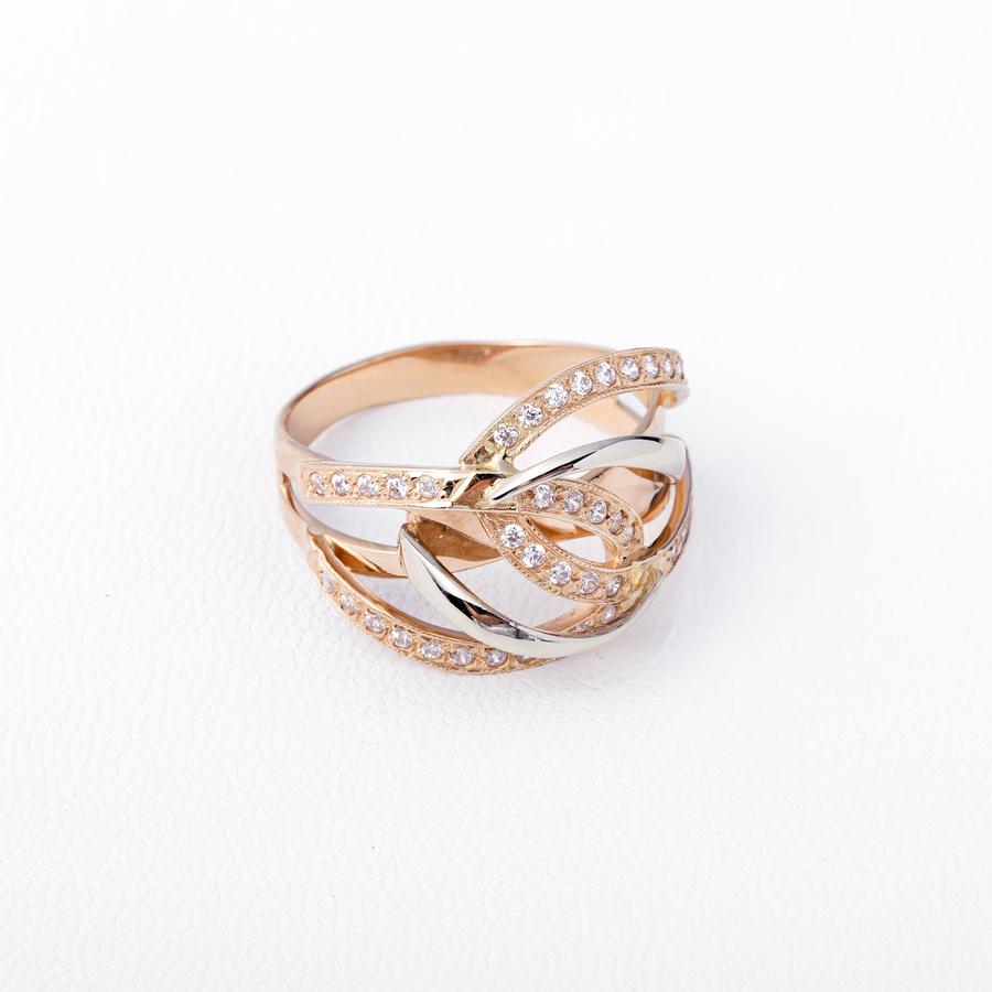 Кольцо золотое с фианитами К1284