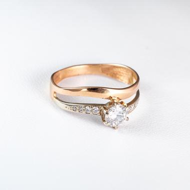 Золотое кольцо для помолвки К1630