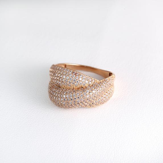 Золотое кольцо широкое К213680