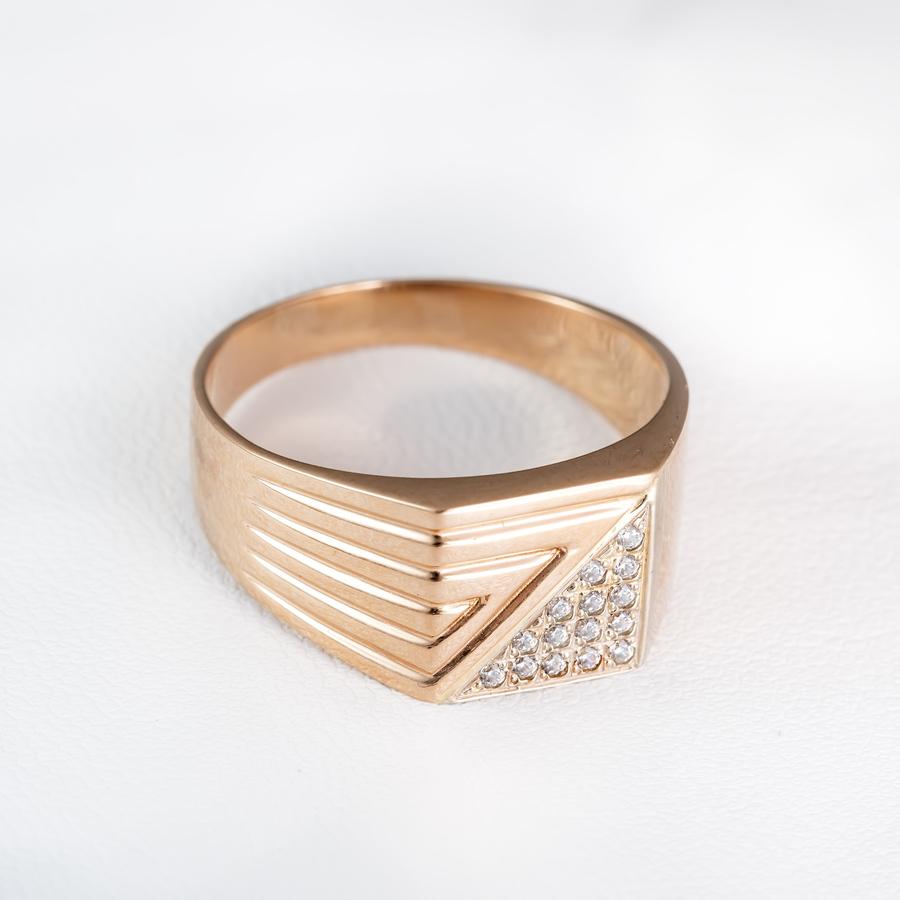 Золотая печатка мужская К933