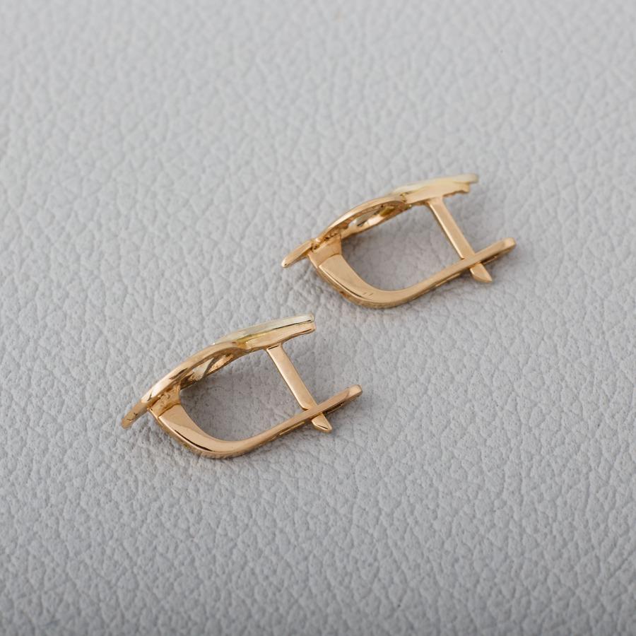 Золотые серьги с фианитами. С182