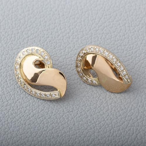 Золотые серьги с фианитами. С334