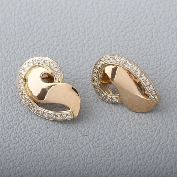 Золотые серьги с камнями С334