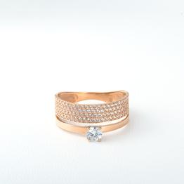 Помолвочное кольцо из золота с фианитами K1618