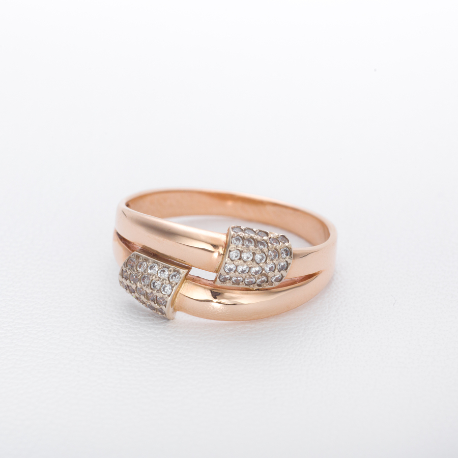 Кольцо золотое с фианитом К1711