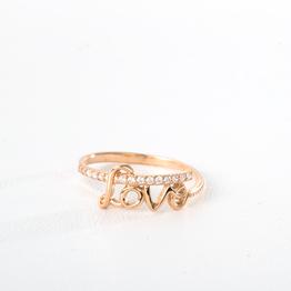 """Золотое помолвочное кольцо """"Я люблю тебя"""" с фианитами К1841"""