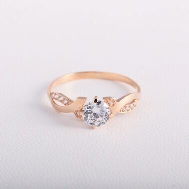 Золотое помолвочное кольцо с фианитами K1846