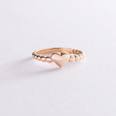 """Золотое кольцо """"Сердце"""" к06877"""