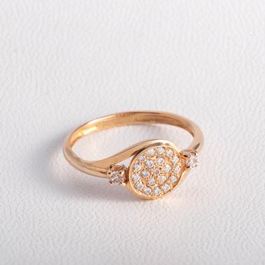 Золотое кольцо помолвочное  с фианитами K1684