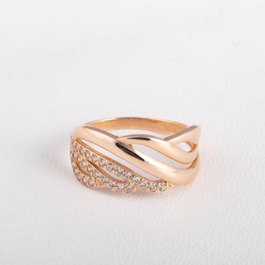 Золотое кольцо с фианитами K1824