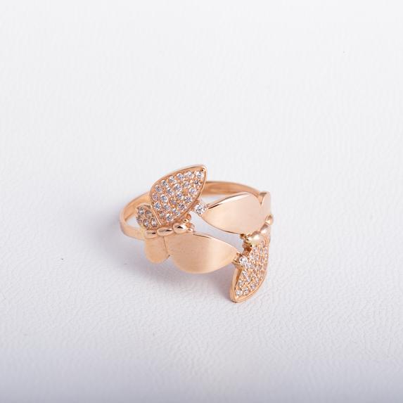 Золотое кольцо Бабочка с фианитами K1859