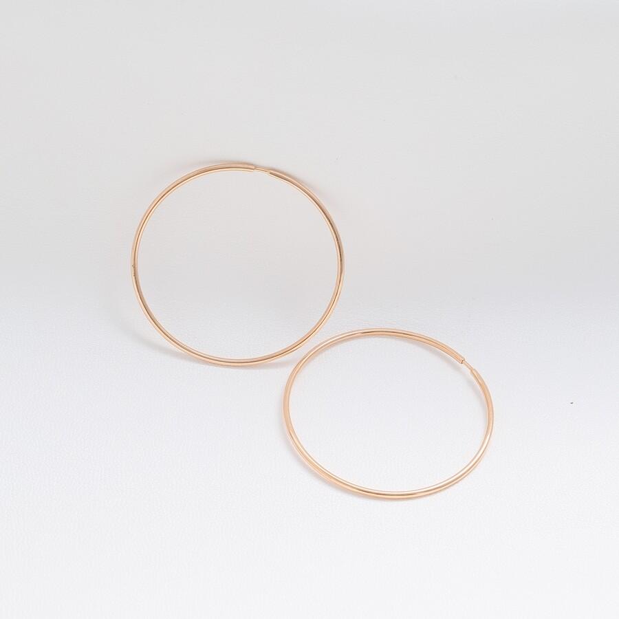 Серьги кольца золотые средние Ск450