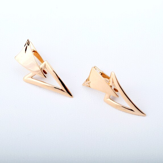 Серьги золотые треугольники Ср883