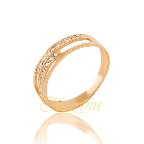 Золотое кольцо с фианитами. К1679
