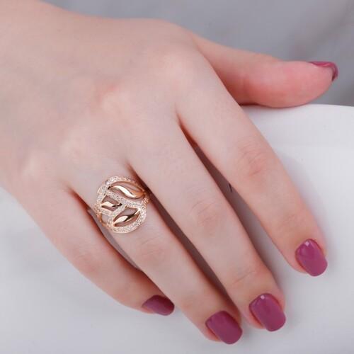 Золотое кольцо с фианитами. К1493