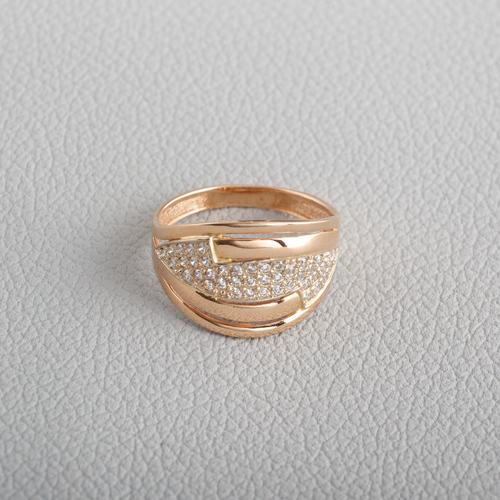 Золотое кольцо с фианитами. K1716