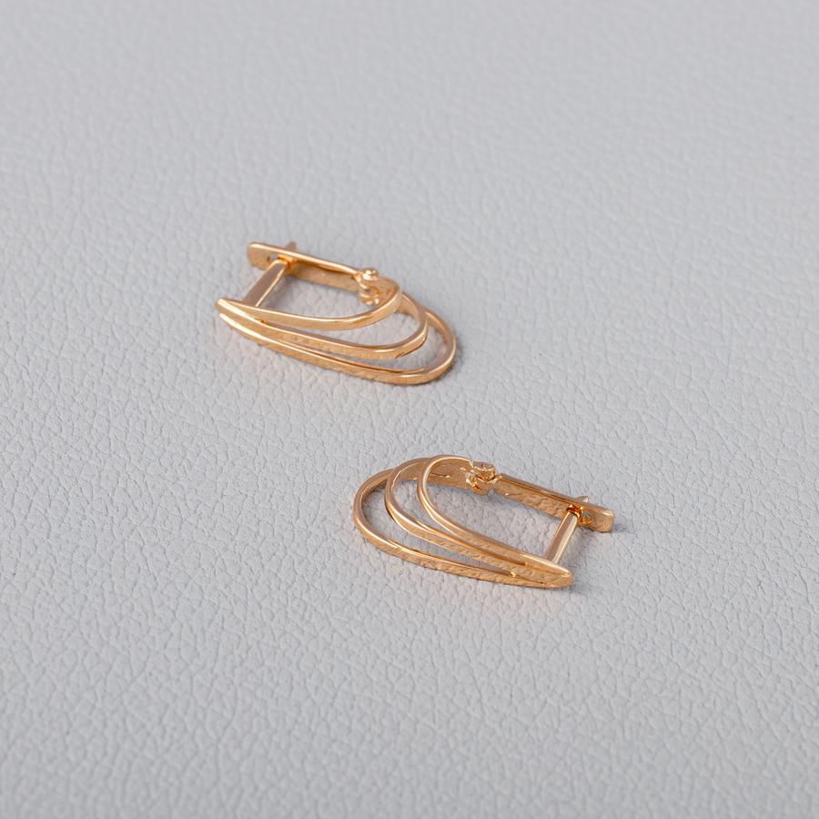 Золотые серьги на английской застежке. Г20515А