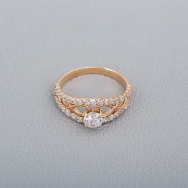 Золотое кольцо на помолвку Г21132