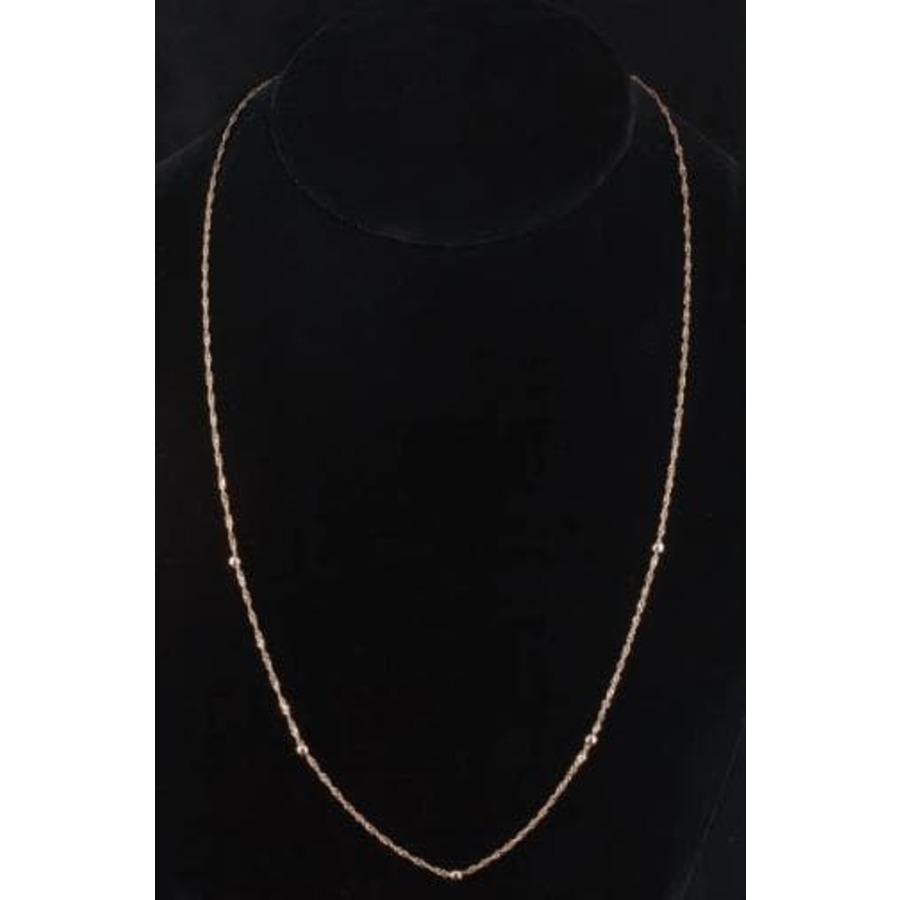 Золотая цепочка плетения Сингапур с шариками 50927202051