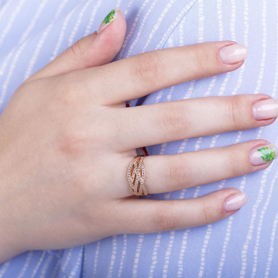 Ажурное золотое кольцо К1697