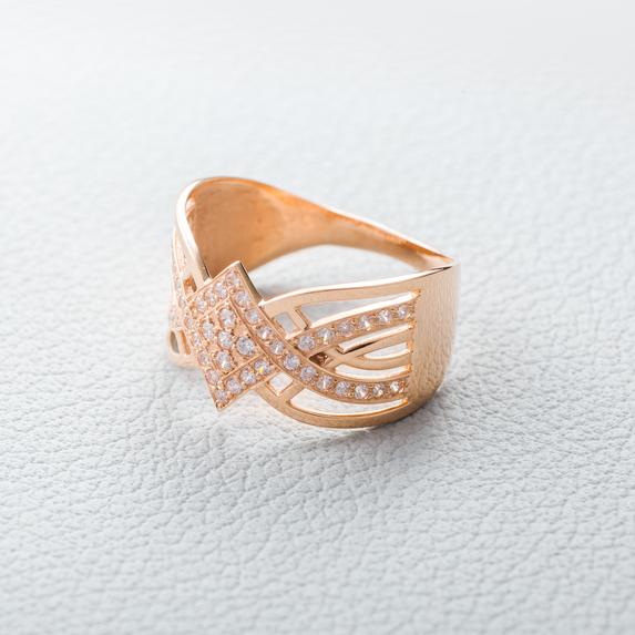 Кольцо широкое золотое К1773