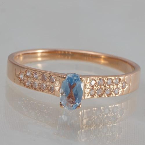 Помолвочное золотое кольцо с фианитами. К20511