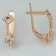 Золотые серьги с фианитами. Г41017