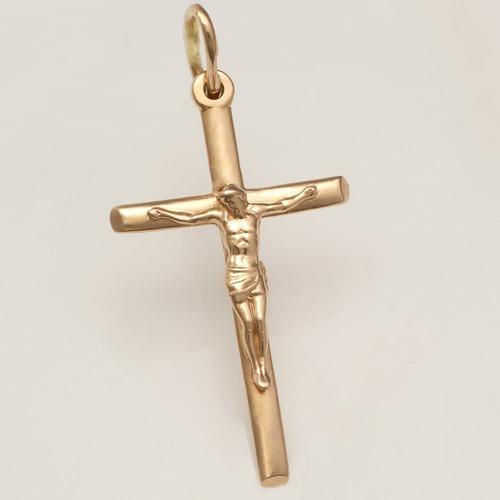 Золотой крестик с распятием. П50227