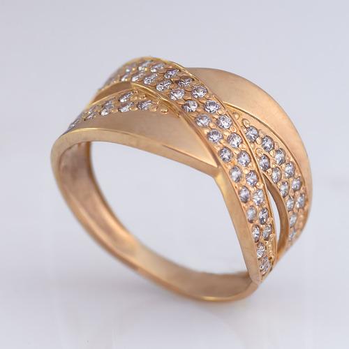 Золотое кольцо с фианитами. K1724