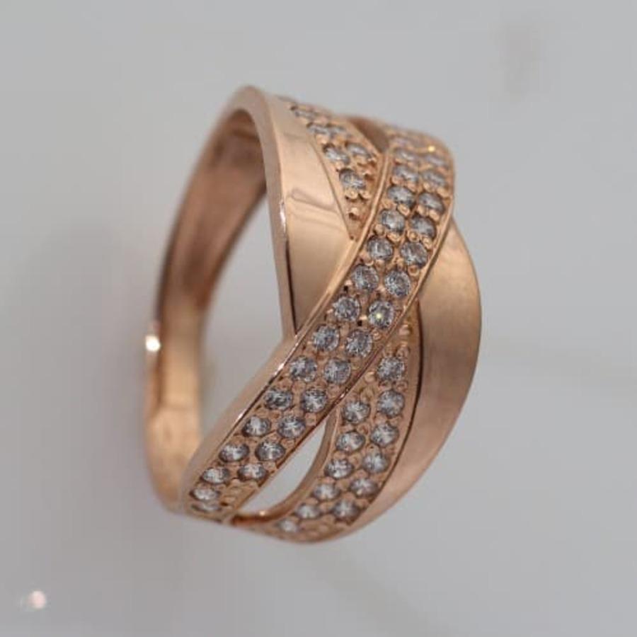Золотое кольцо женское с фианитами K1724