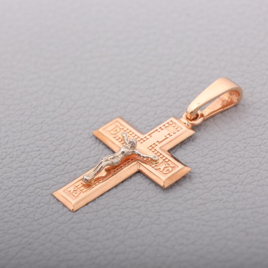 Золотой крестик распятие. П03085