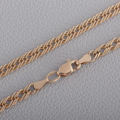 Золотая цепочка ромб тройной с алмазной гранью 33306041