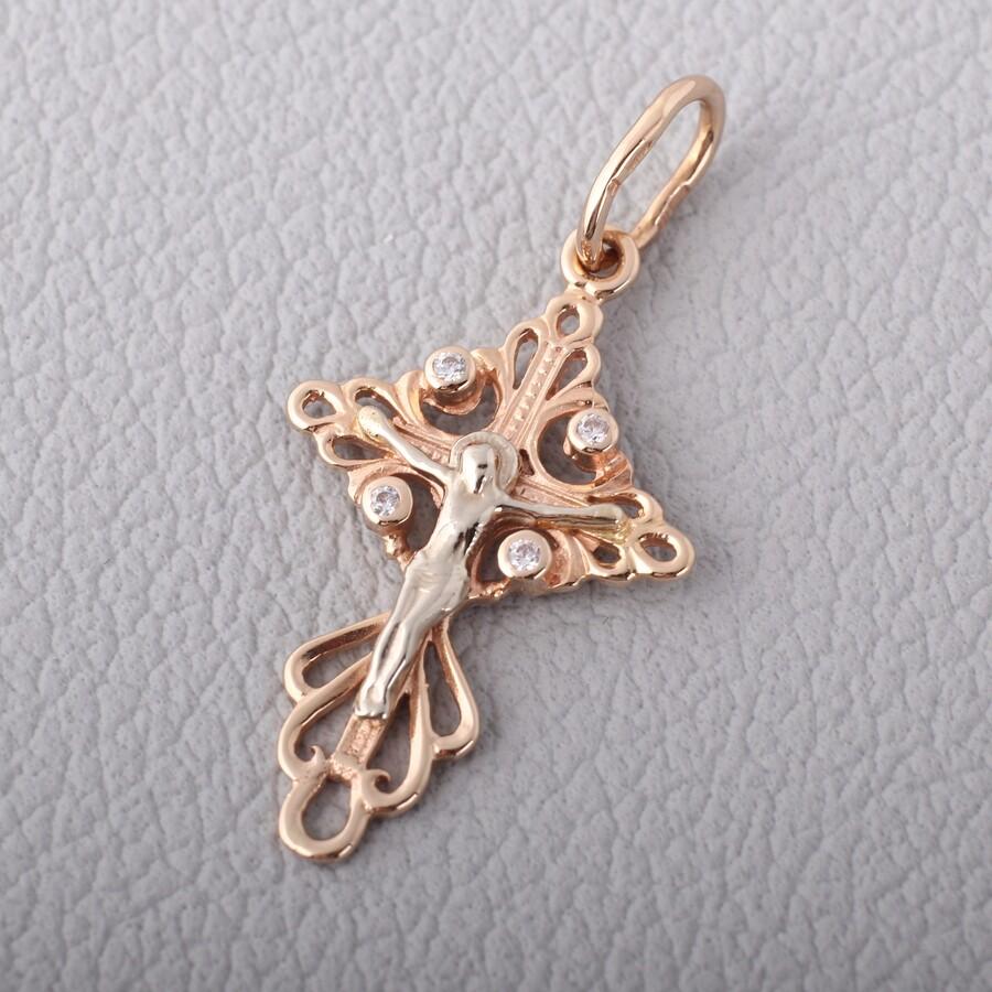 Золотой крестик. П427а