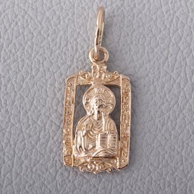 Золотая подвеска-иконка Архангел Михаил. П504