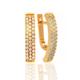 Золотые серьги с фианитами. Ю110325
