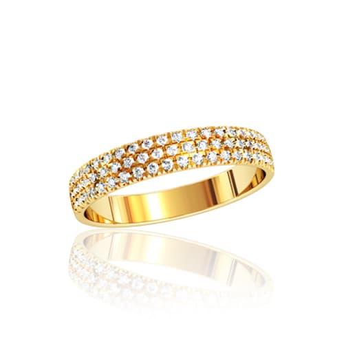 Золотое кольцо с фианитами. Ю110320