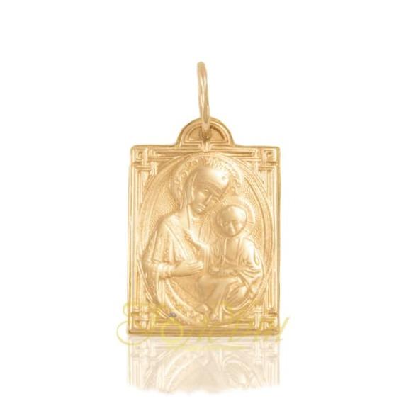 Золотая подвеска-иконка Божией Матери. П307