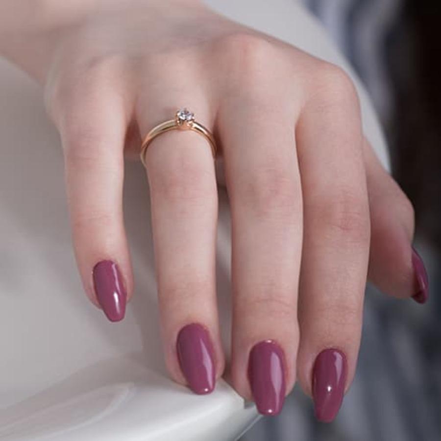 Помолвочное золотое кольцо с фианитом К1433