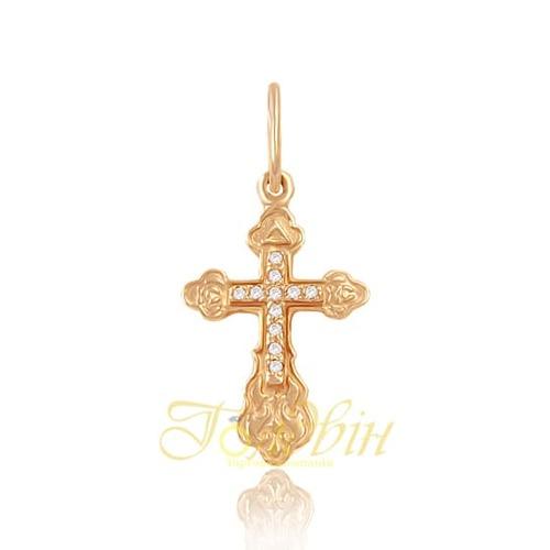 Золотой крестик. П351