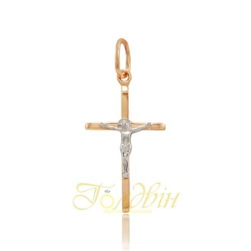 Золотой крестик. П416