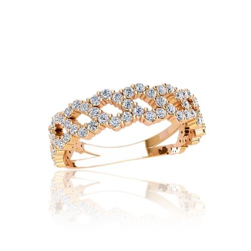 Золотое кольцо с фианитами. Г21080