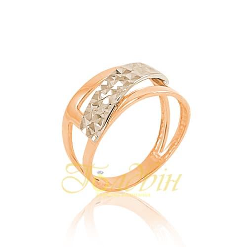 Золотое кольцо с алмазной гранью. К10275А
