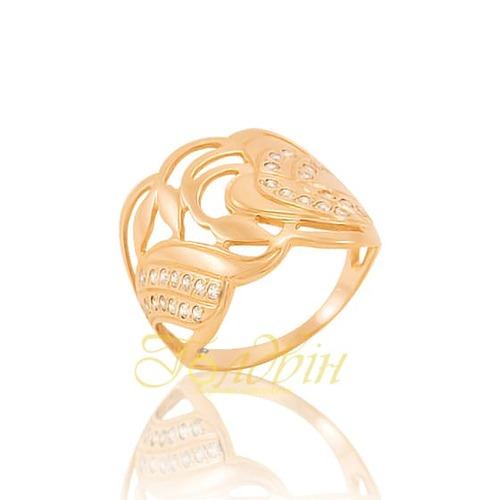 Золотое кольцо с фианитами. К1495