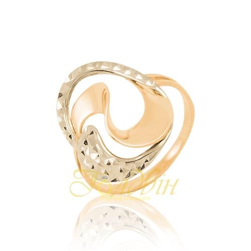 Золотое кольцо с алмазной гранью. К10274А