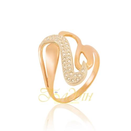 Золотое кольцо с фианитами. К1549