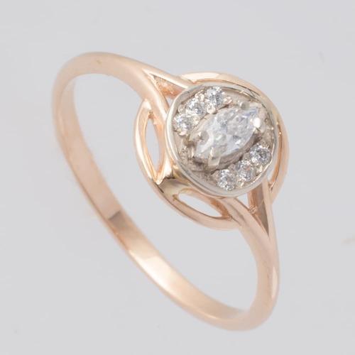 Золотое помолвочное кольцо с фианитами. Г10415
