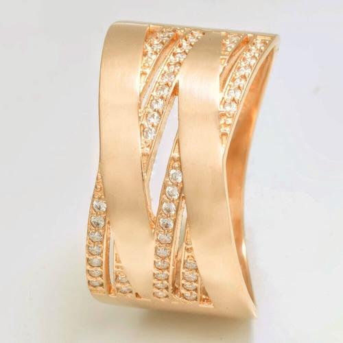 Золотое обручальное  кольцо с фианитами. К1703